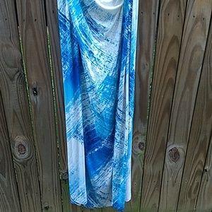 Tommy Bahama Dresses - Tommy Bahama blue maxi dress size medium